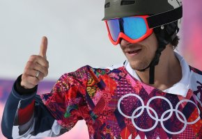 Обои олимпиада, спортсмен, шлем, очки, форма