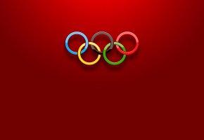 Обои олимпиада, кольца, объем, цвет