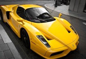 ���� �������, ������, ������, yellow, Ferrari, ��������, enzo