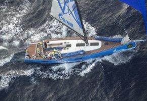 Обои яхта, движение, море, спорт