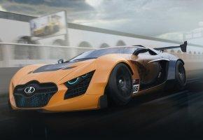 Обои Lada, Лада, GT, Concept, Speed, скорость, тюнинг