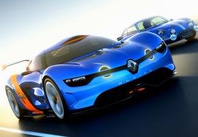 Обои передок, alpine, Renault, concept, рено