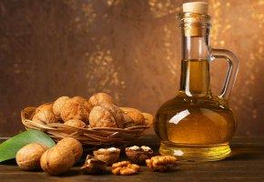 Обои масло, орехи, зерна, лукошко