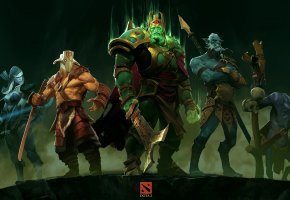 ���� dota 2, Wraith King, Drow Ranger, Phantom Lancer, ����