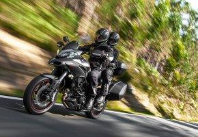 Обои скорость, шоссе, мотоцикл, Ducati, 1200S, Granturismo