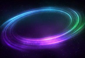 Обои галактика, звезды, вселенная, цвета, круги