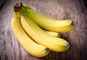 Обои банан, фон, желтый, фрукт, бананы