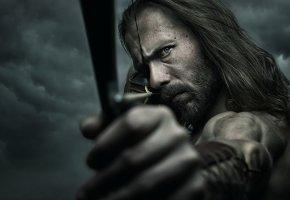 Обои Archer, лук, взгляд, воин, стрела, борода