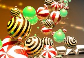 Обои шар, сфера, глянцевые, шарики, 3д, отражение
