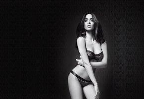 Обои армани, Меган Фокс, актриса, тело, белье, девушка