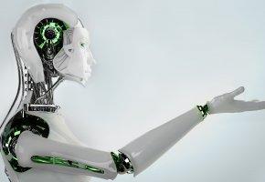 Обои андроид, железо, робот, механизм, рука