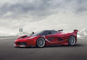 Обои Ferrari, FXX K, Феррари, суперкар, передок, красный