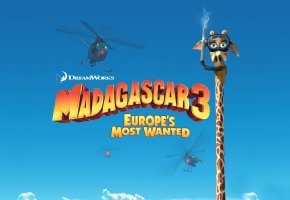 Обои madagascar, europes most wanted, мадагаскар, жираф, Мелман