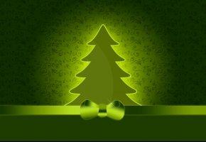 Обои праздник, рождество, новый год, елка, бант, текстура