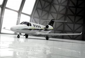 Обои ангар, самолет, крыло, хвост, двигатели, приватный