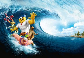 Обои Sponge Out of Water, Губка Боб, океан, волна