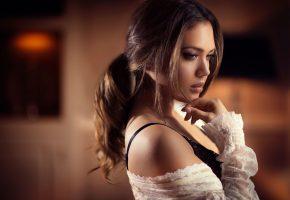 Обои Estrella Pau, портрет, профиль, макияж