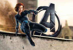 Обои Мстители: Эра Альтрона, Avengers: Age of Ultron, Скарлетт Йоханссон, Scarle ...
