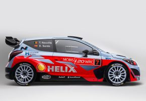 Обои WRC, Hyundai, i20, Rally, 2015, Профиль
