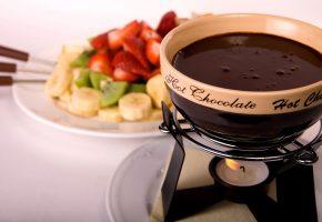 Обои горячий, вкусно, шоколад, напиток, фрукты