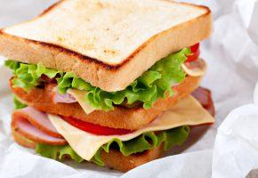 Обои бутерброд, салат, помидоры, ветчина, сыр