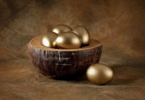 Обои eggs, golden, Пасха, яйца, золотые