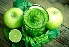 Обои мята, напиток, смузи, фрукты, яблоко