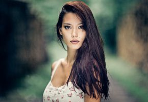 ���� Brunette, girl, face, ��������, �������, ���������, ����, ��������