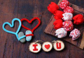 Обои любовь, сердечки, valentine\'s day, цветочки
