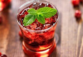 Обои напиток, мята, коктейль, лёд, сладости