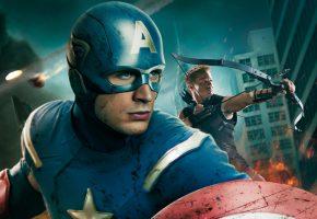 Обои Мстители, The Avengers, Крис Эванс, Chris Evans, Steve Rogers, Captain Amer ...