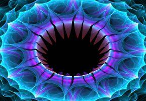Обои краски, симметрия, объем, цветок, кольцо