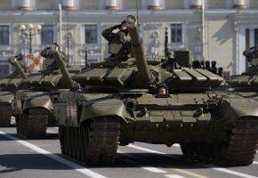 Обои Т-72, боевой, танк, бронетехника, парад