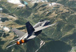 Обои FA-18C, Hornet, многоцелевой, истребитель, ландшафт