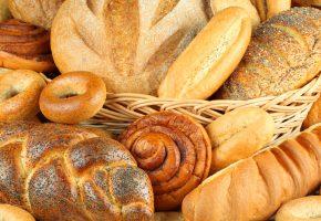 Обои корзина, выпечка, хлеб, батон, булка, крендель, сушки