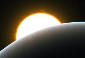 Обои звезда, экзопланета, осирис, газовый гигант, поверхность, планетная система, созвездие пегас
