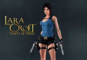 Обои lara croft and the temple of osiris, девушка, lara croft, tomb raider, пистолеты