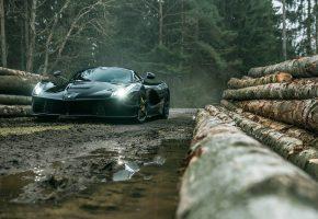 Обои CAR, ferrari, Феррари, чорный, автомобиль, машина