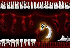 Обои стоматолог, зубы, юмор, инструменты