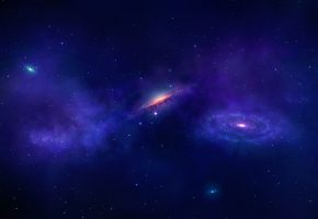 Обои космос, небо, звезды, бездна, галактика