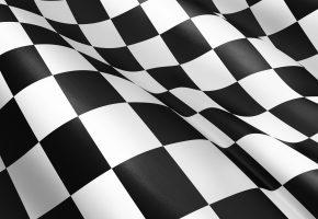 Обои белый, Черный, клетка, флаг