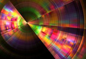 Обои линии, сектор, лучи, 3d, свет, цвет