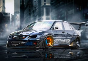 ���� Mitsubishi, Lancer, Evolution 9, Brake, Sport, Car