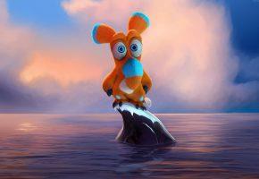 Обои упс ной уплыл, ooops noah is gone, мультфильм, море