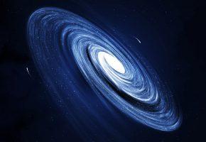 Обои галактика, звезды, темнота, пустота