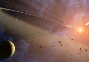 Обои планеты, пояс, кольцо, звезда, астероид, комета