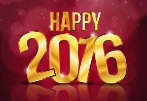 Обои Новый Год, 2016, надпись, цифры