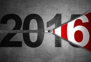 Обои 2016, Новый Год, цифры, молния