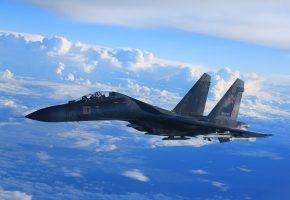 Обои Су-35, многоцелевой, реактивный, сверхманевренный