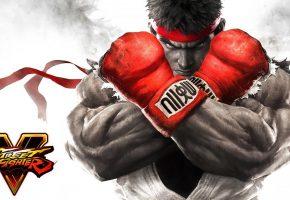 Обои Street Fighter V, Ryu, man, боец, перчатки, кимоно